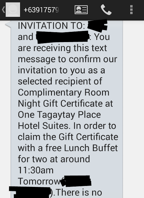 One Tagaytay Place Scam