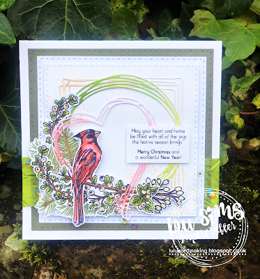 Tonic Studios Winter Birds clear stamps by Lou Sims