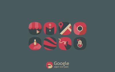 Sagon Dark Icon Pack untuk Android