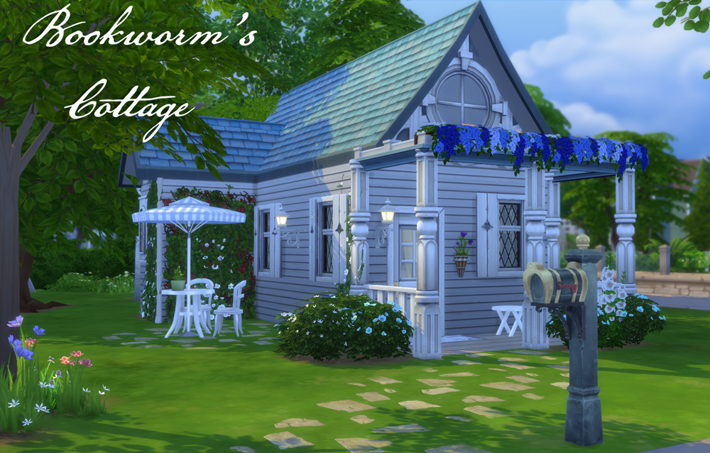 Athsndwords Sims 4 Designs: Bookworm's Cottage