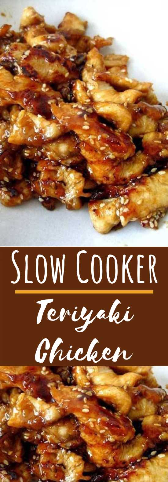 Slow Cooker Teriyaki Chicken #dinner #chicken