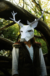 deer head halloween costume geometric and creepy