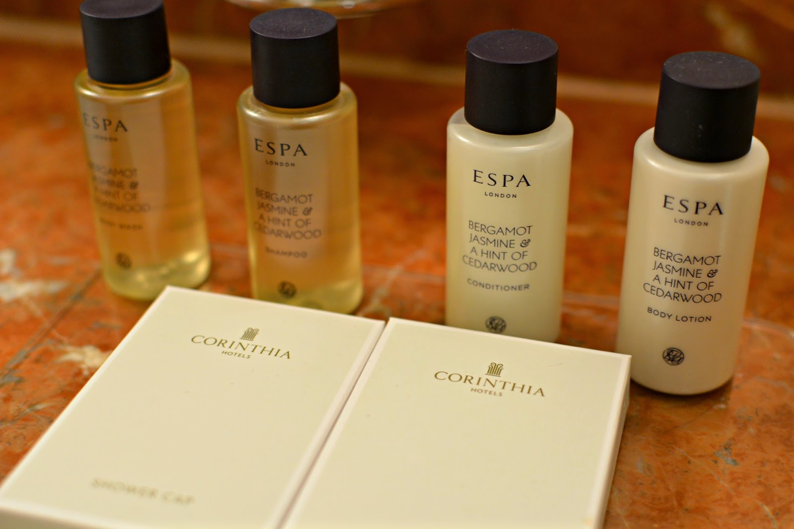The Corinthia hotel budapest ESPA bath amenities