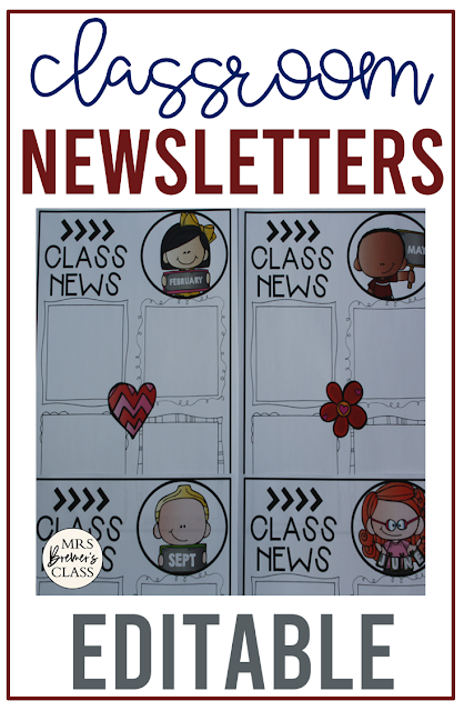 These editable classroom newsletter templates can be used to inform parents what is happening in the classroom for the month. Communicate learning goals, class news, homework, field trip information, and more.