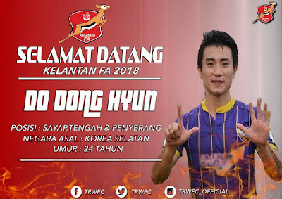 Biodata Dong-hyun Pemain Import Baru Kelantan 2018