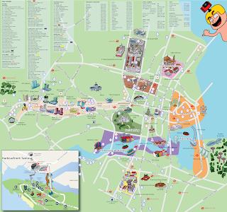 Mapa turístico de Singapur.