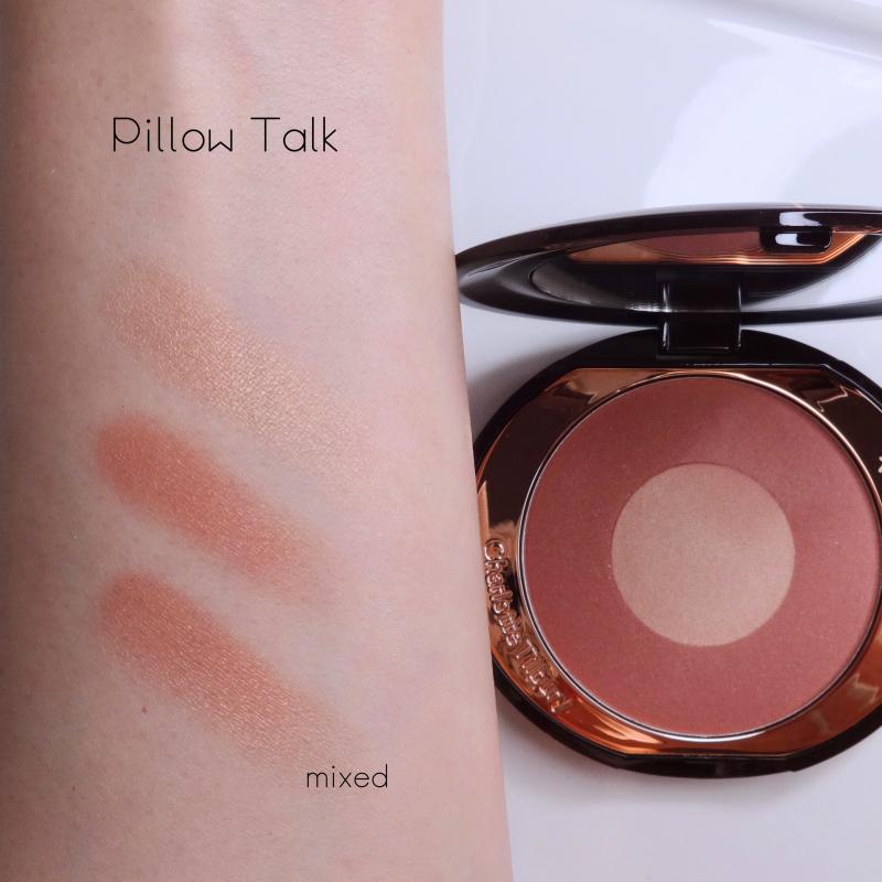 Charlotte Tilbury Pillow Talk blush swatch