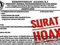 Waspada, Beredar Surat Hoax Imbauan Calon Jamaah Haji Khusus Lunasi BPIH 2019