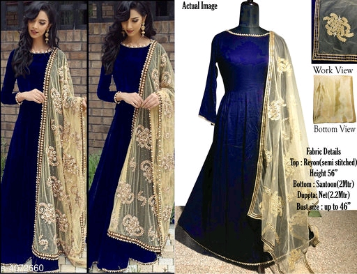Attractive Trendy semi stiched suits & Dress Materials Vol 1