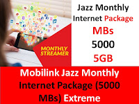 Jazz packages, Jazz internet packages, Jazz monthly packages, Jazz monthly internet packages