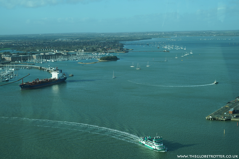 View from Emirates Spinnaker Tower in Portsmouth