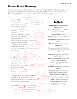 Nicene Creed Study as a part of Church History Unit Lesson Plan