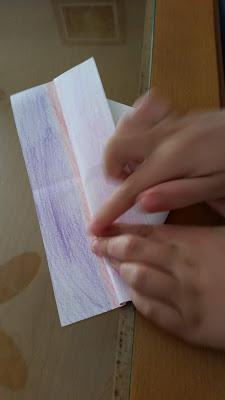 Paso 3 barquito de papel