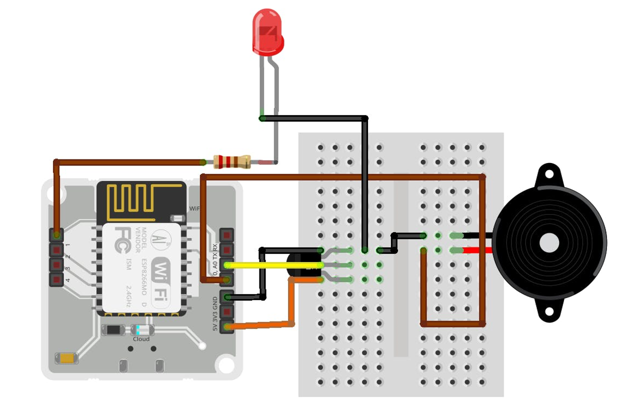 Connection view of Temperature Monitioring