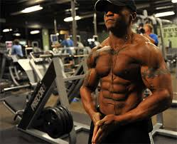 barechested topless men in gym