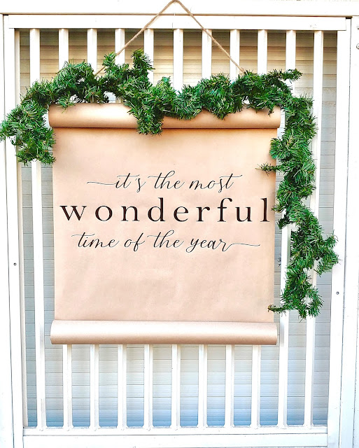 It is the most wonderful time of year Christmas scroll