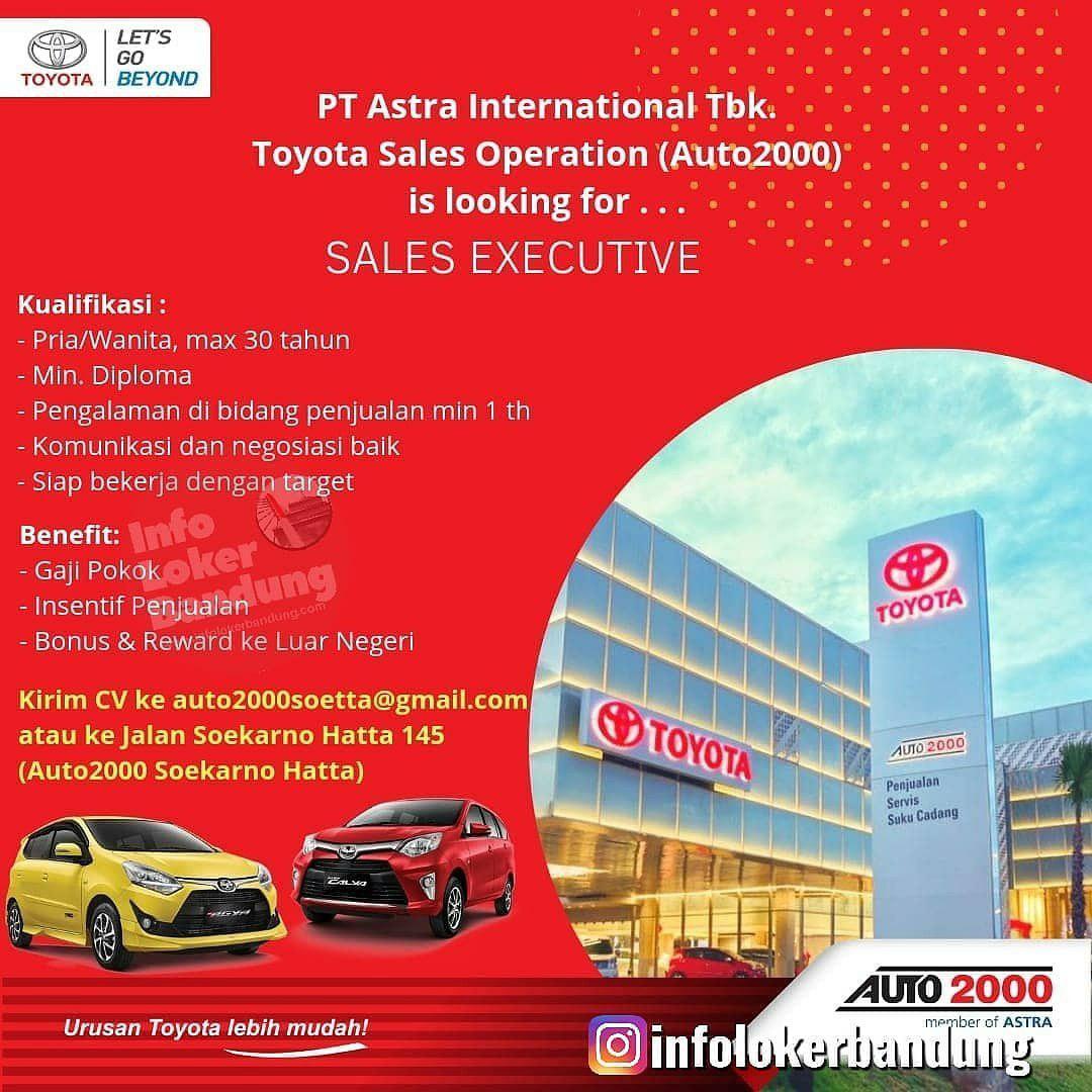 Lowongan Kerja PT. Astra International Tbk. - Toyota Sales Operation (Auto2000) Bandung Mei 2019