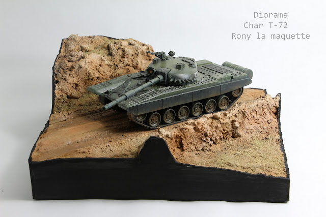 Diorama pour le char T-72 Academy au 1/48