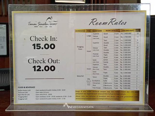 harga Kamar di Taman Simalem Resort