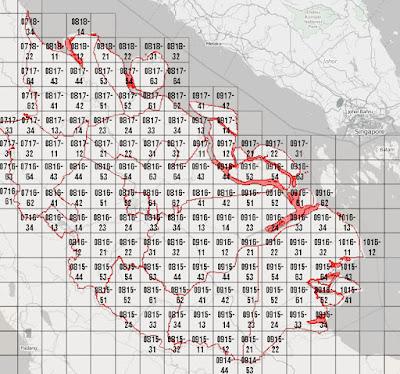Kode Zona Area DEM Nasional (DEMNAS) - Provinsi Riau