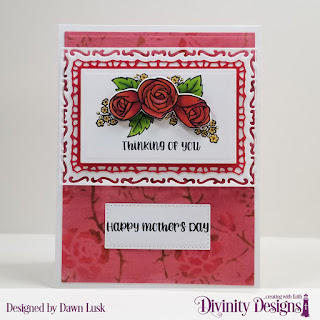 Stamp/Die Duos: My World Custom Dies: A2 Portrait Card Base with Layer, Lavish Layers, Pierced Rectangles, Rectangles Mixed Media Stencil: Roses