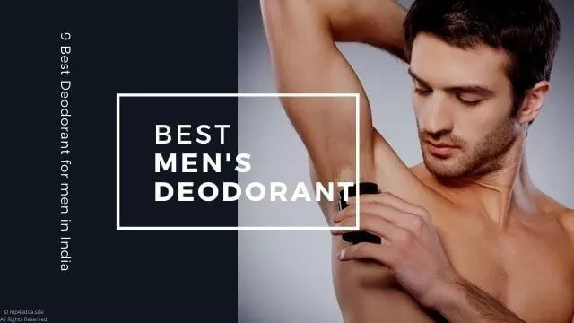 [9] Best Long Lasting Deodorant for Men in India - [2020]