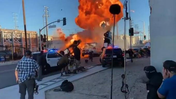 Ambulance : 爆発大将のマイケル・ベイ監督が本領発揮のリメイク映画の最新作「アンビュランス」の爆破💥シーン‼️