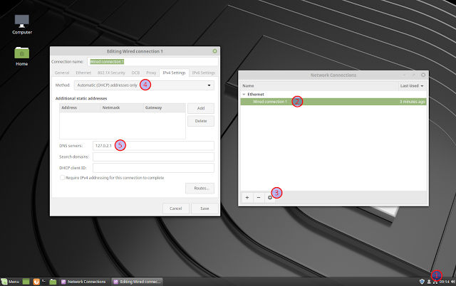 Change DNS Linux Mint 19 Cinnamon