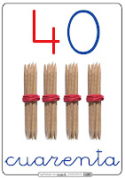 Resultado de imagen de numeros del 40 al 49