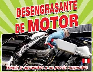 Desengrasante especial para la limpieza de motores y piezas en general.