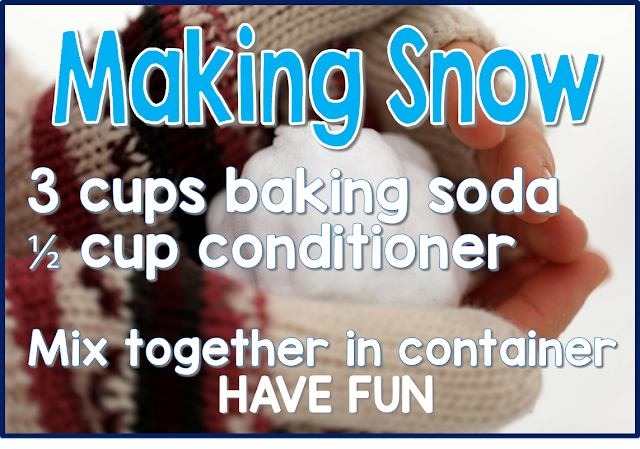 Making snow with kids