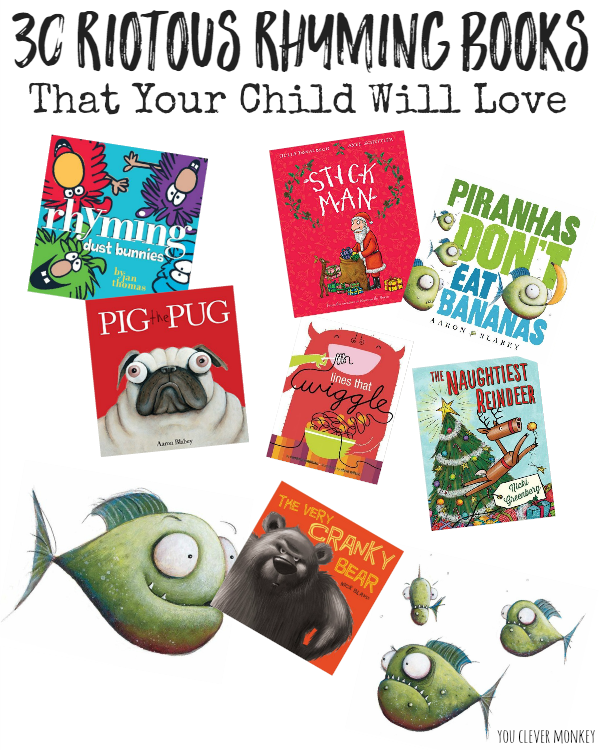 30+ Riotous Rhyming Books that Your Child Will Love | you clever monkey