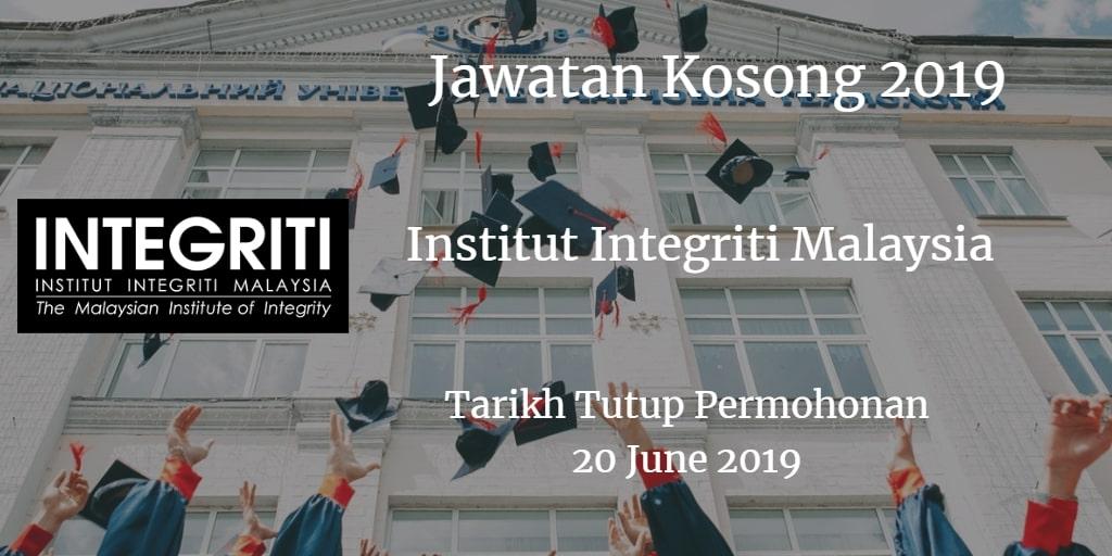 Jawatan kosong Institut Integriti Malaysia 20 June 2019