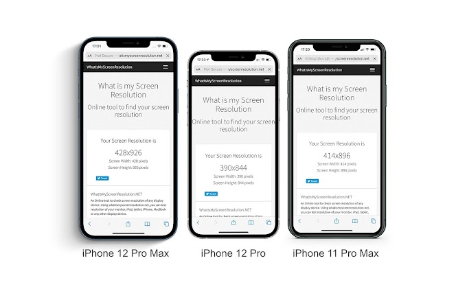 Compare the visibility of iPhone 12 Pro, iPhone 12 Pro Max and iPhone 11 Pro Max