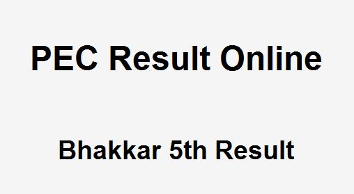 Bhakkar 5th Class Result 2019 PEC - BISE Bhakkar Board 5th Results