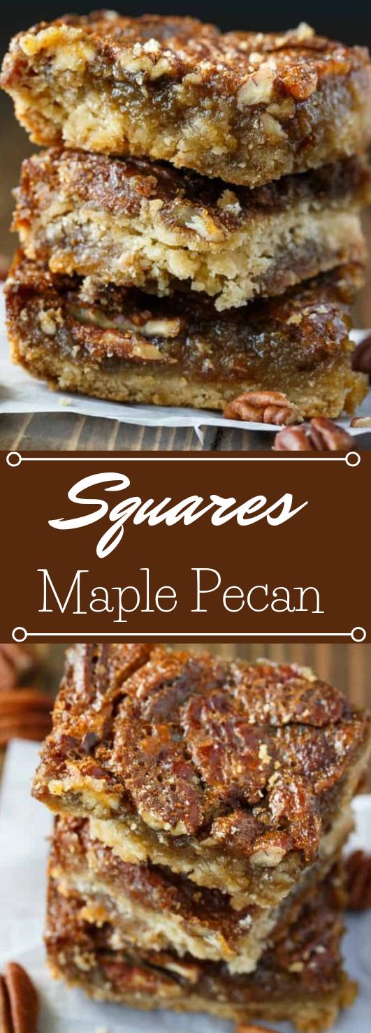 Maple Pecan Squares #dessert #pie #healthycake #paleo #delicious