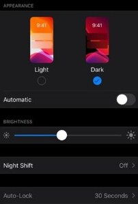 WA Dark Mode di iOs 13