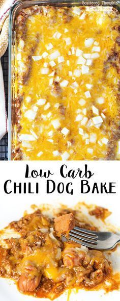 Low Carb Chili Dog Bake