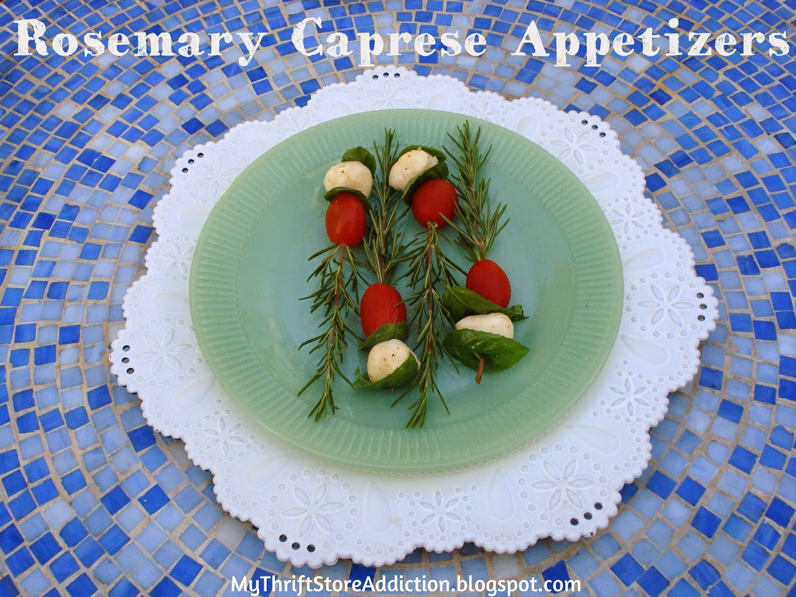 Rosemary caprese appetizers