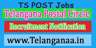 Telangana Postal Circle Recruitment Notification 2016 Govt Job Apply