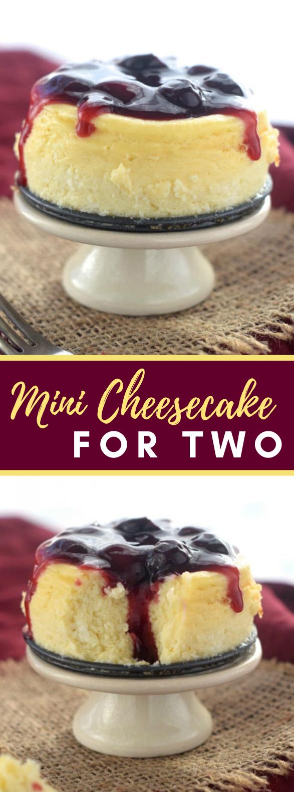 MINI CHEESECAKE FOR TWO #desserts #valentineday