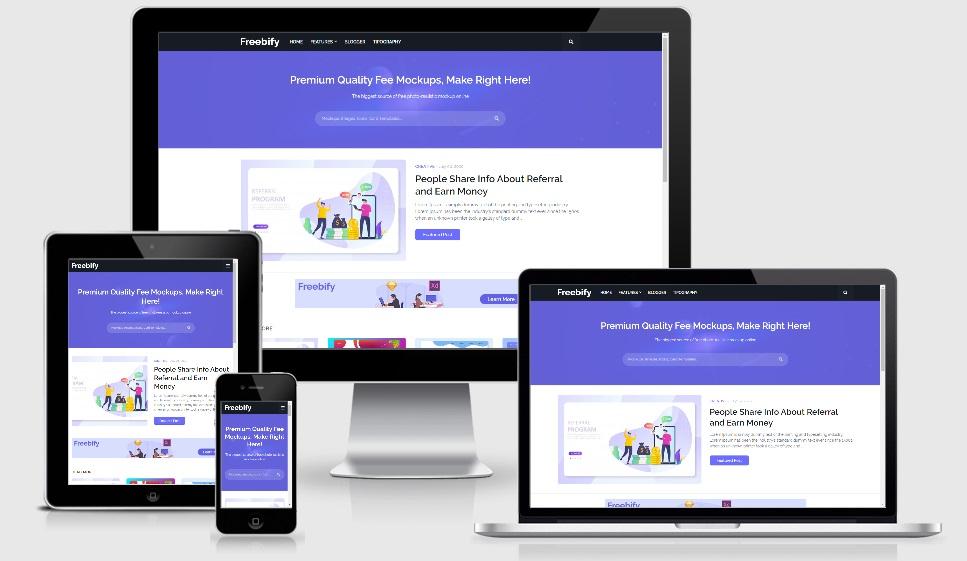 Freebify Premium Responsive Blogger Template