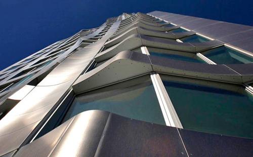 8 spruce street new york by gehry frank nyc tower building skyscraper St ny rascacielos edificio fachada vista contra picado brise soleil