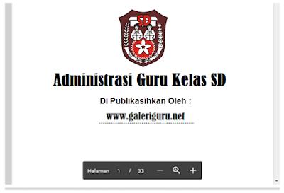 Administrasi Kelas 2 SD Kurikulum 2013 dan KTSP Terbaru Lengkap