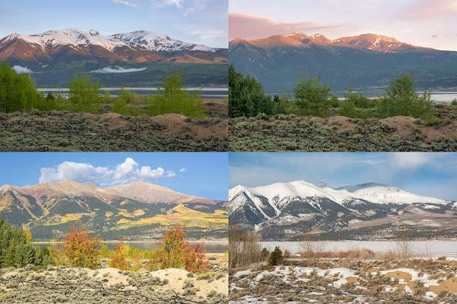 Mount Elbert talles mountain in Colorado four seasons 4 Fall Summer Winter Spring