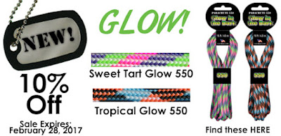 10% off New GLOWS at ParachuteCordCraft.com