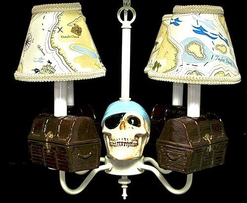 Pirate Room Decor - Pirate Chandelier - Boy's Room Lighting - Boy's Room Ceiling Fixture