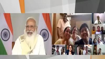 PM Modi CBSE की बारहवीं कक्षा के विद्यार्थियों के साथ चल रही बातचीत में शामिल हुए