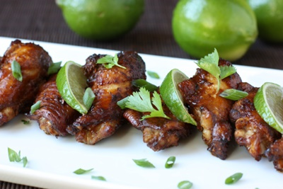 Asian Chicken Wings With Lime Ginger And Soy Sauce