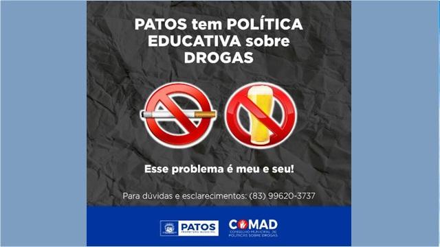Conselho Municipal Sobre Drogas de Patos tem atuado mesmo na pandemia